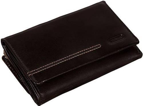 Стильный кожаный кошелек женский VERUS London, артикул: 89A LN черный