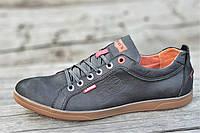 Туфли мокасины мужские Levis реплика стильные натуральная кожа черные (Код: М1214), фото 1