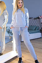 Спортивный женский модный  костюм,ткань:двунитка,экокожа,размеры 50-52,54-56.