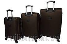 Чемодан на 4 колесах Bonro Tourist (средний) коричневый, фото 2