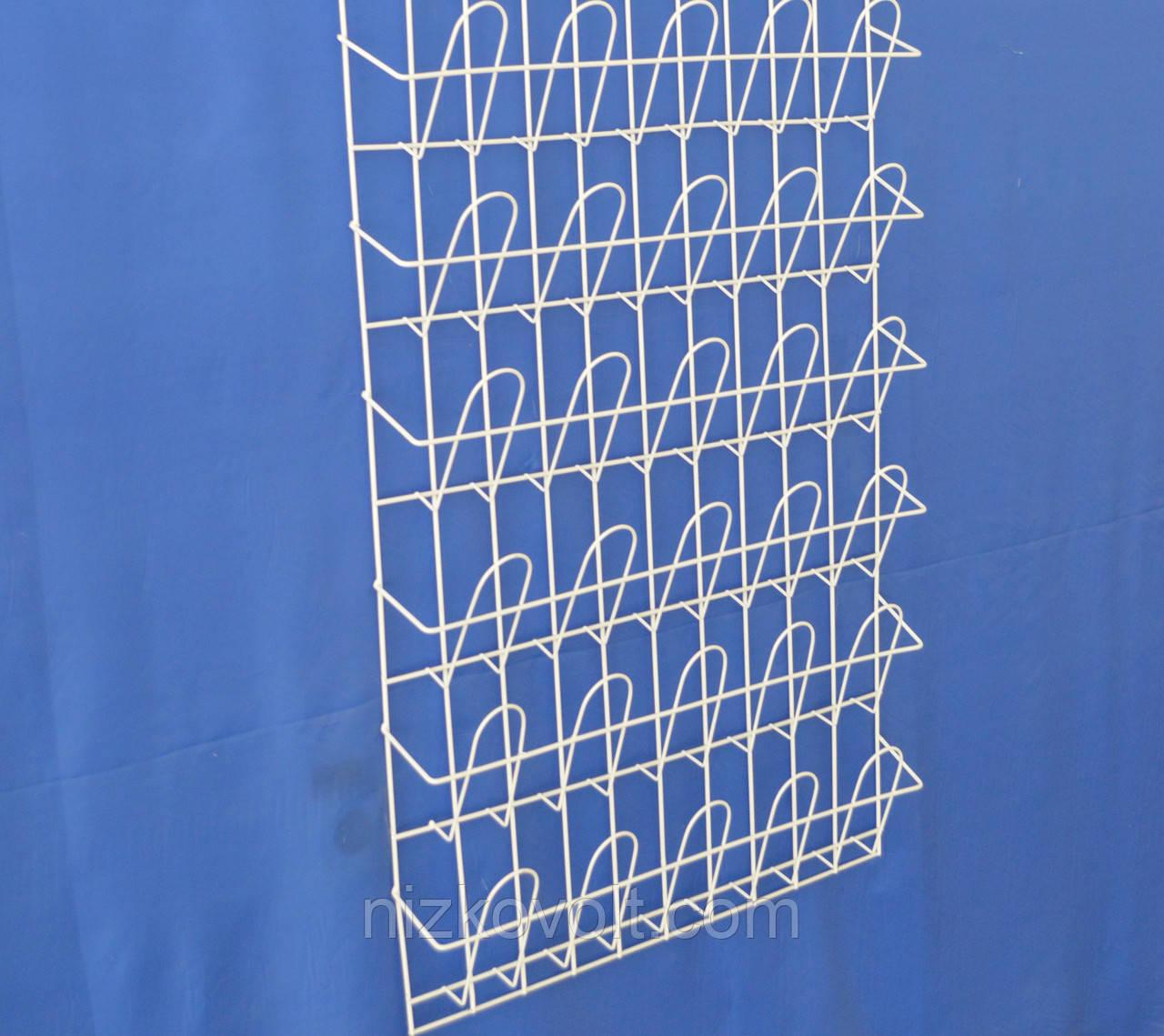 Стеллаж для торговли  журналами,открытками,листовками навесной корзиночный 6 рядов по 5 ячеек