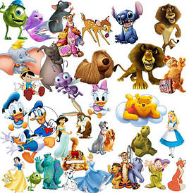 Герої мультфільмів, ігрові фігурки, солдатики