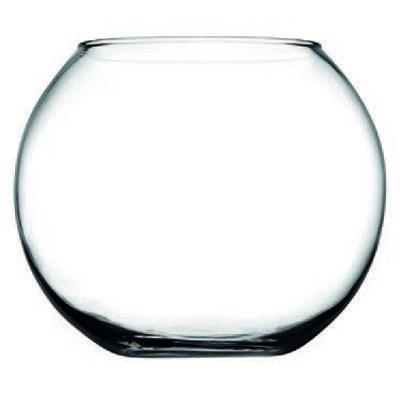 """Ваза маленькая стеклянная """"аквариум"""" Pasabahce Flora D80мм"""