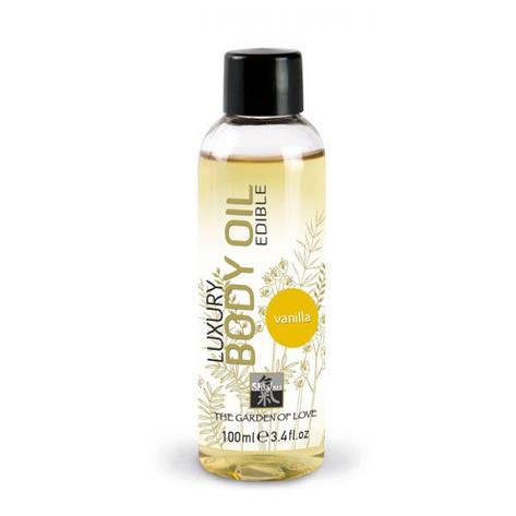 Съедобное массажное масло Shiatsu Luxury Body Oil Vanilla - ваниль, 100 мл, фото 2