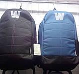 Рюкзак мужской WALLABY с ортопедической спинкой качественный.Синий, черный., фото 2
