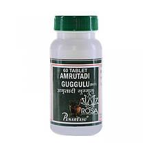 Амритади Гуггул (Amrutadi Guggulu, Punarvasu); при подагре, артрите и артрозе, 60 таблеток