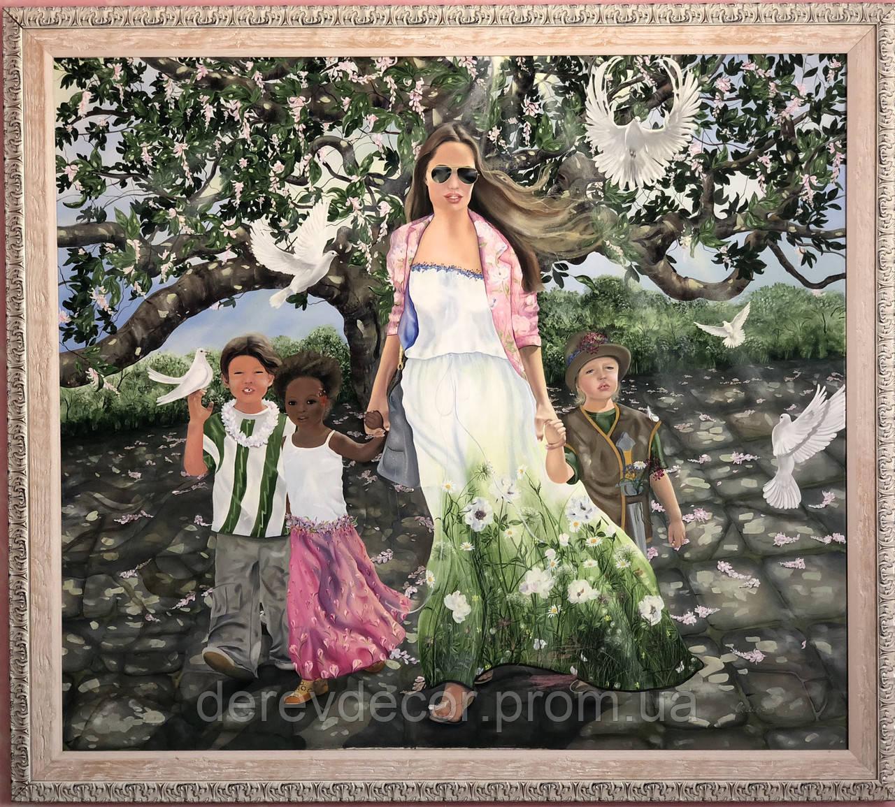 Картина «Мама и дети» 1.7х1.5м