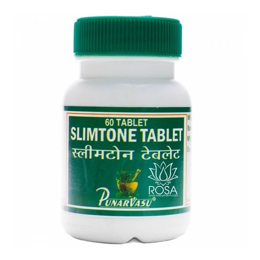 Слимтон (Slimtone Tablet, Punarvasu) эффективное средство для похудения, 60 таблеток