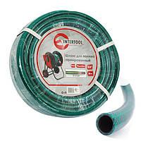 """Шланг для полива 3-х слойный 3/4"""", 100м, армированный PVC, Intertool GE-4047"""