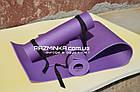 Детский коврик для гимнастики 150х50см, толщина 8мм, фиолетовый, фото 2