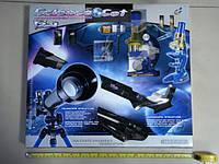 Телескоп+микроскоп игрушечный