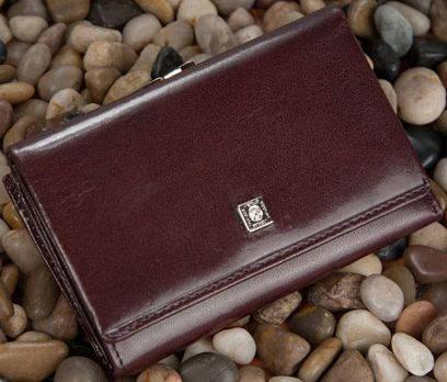 Оригинальный женский кожаный кошелек VERUS Paris, артикул: 89B PAR коричневый