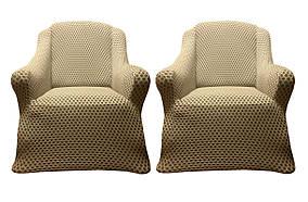 Vip чехлы на диван и 2-кресла AltinKoza бежевого цвета