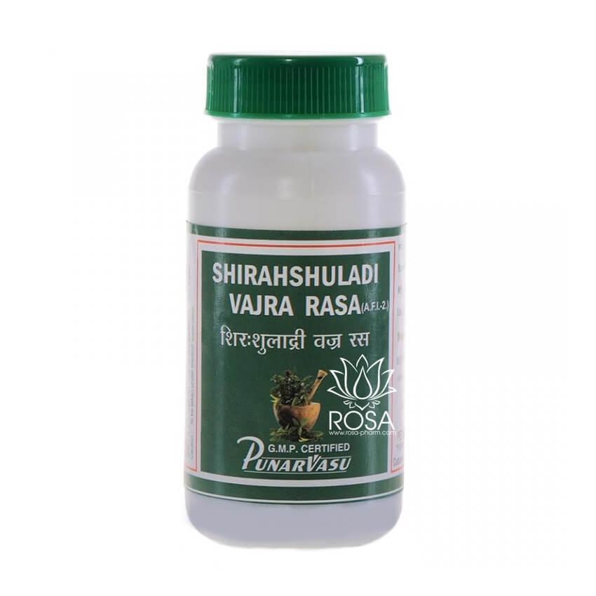Ширашула Ваджр Рас (Shirahshuladi Vajra Rasa, Punarvasu) головные боли, мигрень, 60 таблеток