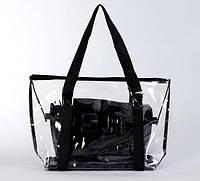 Большая прозрачная силиконовая сумка с маленькой внутри Четыре цвета Изумительный дизайн Код: КГ5909, фото 1