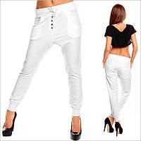 Белые женские штаны с мотней, интернет магазин женских штанов