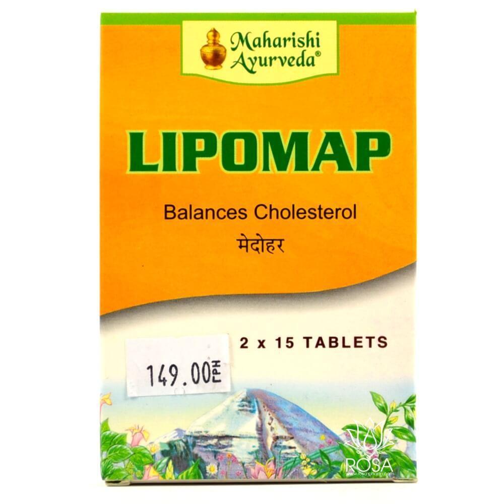 Липомап (Lipomap, Maharishi Ayurveda) поддержание надлежащего уровня холестерина и веса