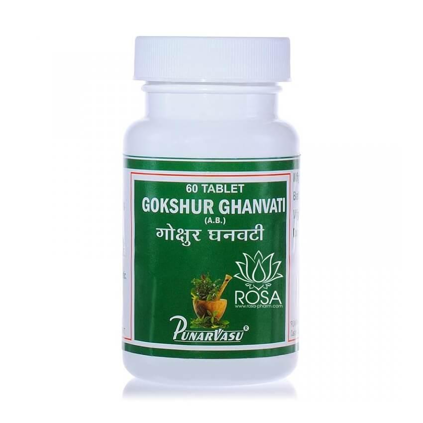 Гокшура Экстракт (Gokshur Ghanvati, Punarvasu); для почек, тоник, афродизиак, 60 таблеток