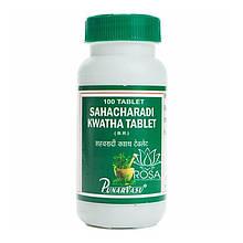 Сахачаради Кватха (Sahacharadi Kwatha, Punarvasu) устраняет застой крови, уменьшает варикоз