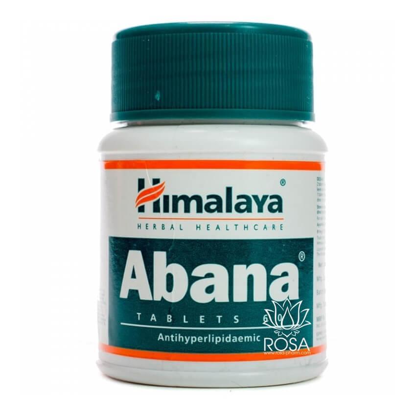 Абана (Abana Tablets, Himalaya) гиперлипидемия, гипертония, атеросклероз, 60 таблеток