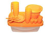 """Набор посуды для пикника """"Чезаре"""" на 4 персоны С68 ОРАН, фото 1"""