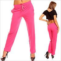 Ярко-розовые женские спортивные штаны