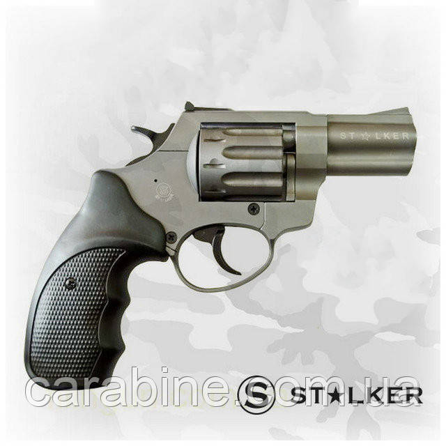 """Револьвер STALKER Titanium 2,5"""", под патрон флобера, черная пластиковая рукоять"""