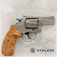 """Револьвер STALKER Titanium 2,5"""", под патрон флобера, коричневая пластиковая рукоять, фото 1"""