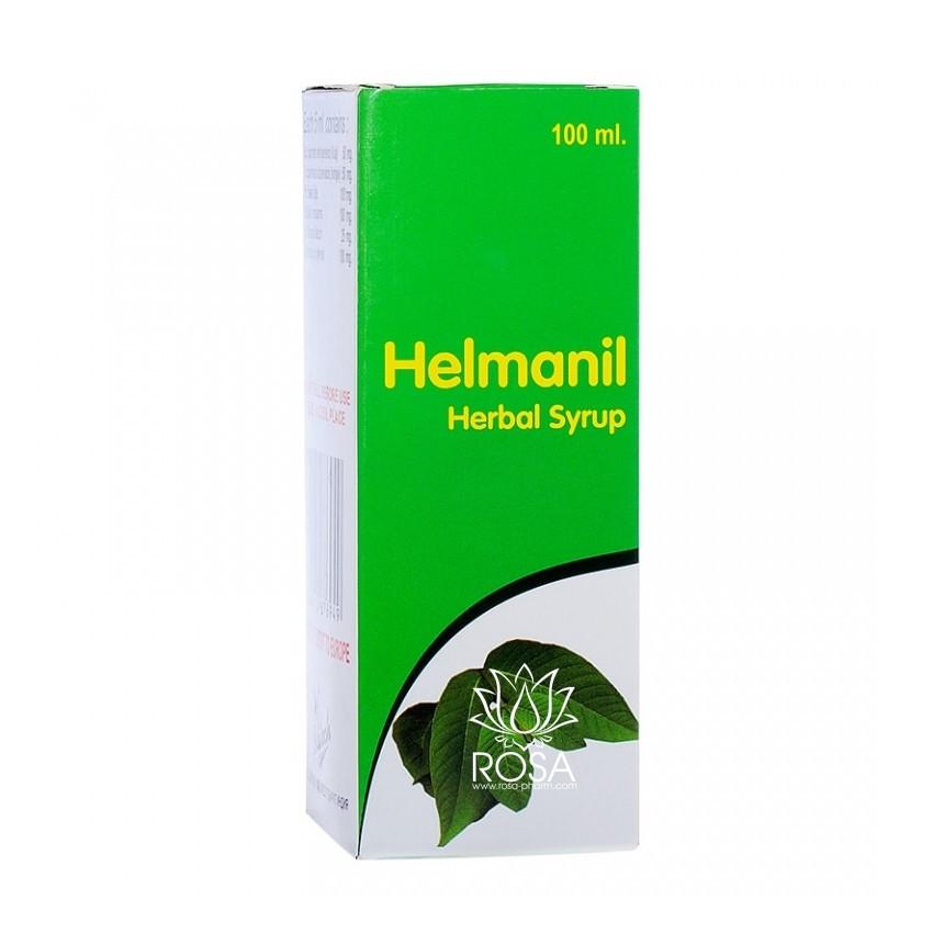 Гельманил сироп (Helmanil Herbal Syrup, Punarvasu) антигельминтный препарат, 100 мл