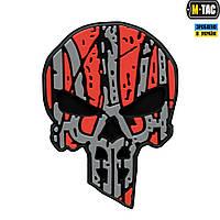 M-Tac нашивка Ukrainian Punisher 3D ПВХ красно-черная