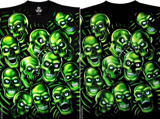 Футболки Liquid Blue SKULL PILE GREEN 31733