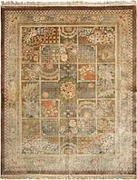 Иранский ковёр ручной работы с резным и объемным орнаментом. Кашан. 3D эффект. Шёлк. Размер 3020 х 2420мм.
