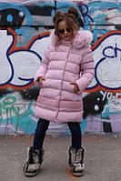 Зимнее пальто на девочку Деника,мех песец