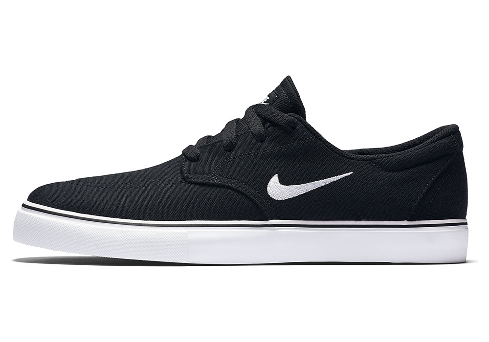 "Кеды Nike SB Clutch Sketeboarding ""Black/White"" (Черные/Белые)"