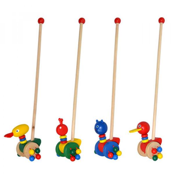 Деревянная игрушка Каталка на палочке