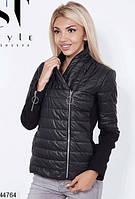 Демисезонная куртка косуха на молнии 42-46