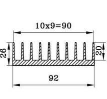 Алюминиевый радиаторный профиль БПО-1906 92х26мм