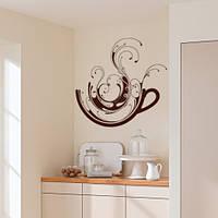 Интерьерная виниловая наклейка на кухню Кофейная фантазия (самоклеющаяся пленка)