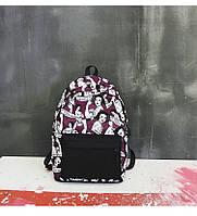 Рюкзак фиолетовый с принтом