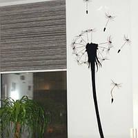 Виниловая декоративная наклейка Одуванчик (цветы, растения, самоклеющаяся пленка)