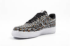 "Кроссовки Nike Air Force 1 Low Just Do It Pack ""Black"" (Черные), фото 2"