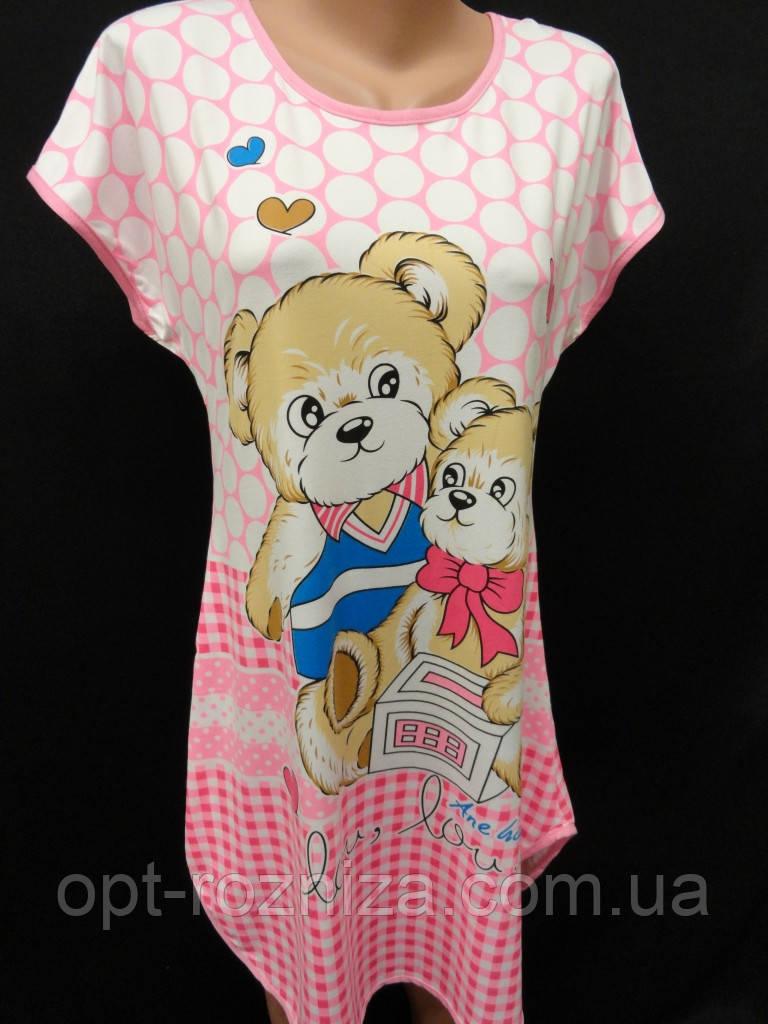 Домашние женские сорочки с рисунком.