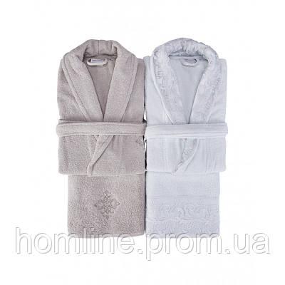 Набор халат (2 шт) с полотенцем (2 шт) Karaca Home Novela 2018-2 tiffany