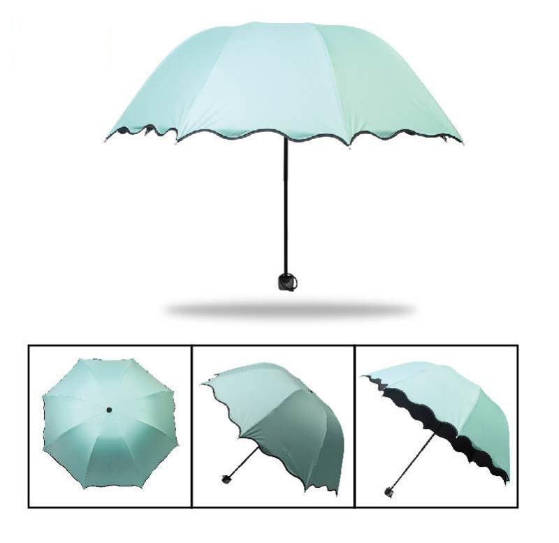 Красивые складные зонты, разные цвета