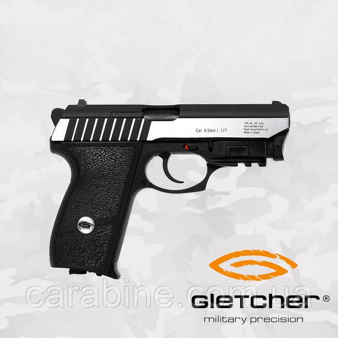 Пневматический пистолет GLETCHER SS P232L BLOWBACK SIG SAUER  с ЛЦУ