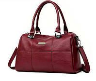 Стильная женская сумка бочонок Классический кожаный аксессуар на каждый день Отличный дизайн Код: КГ5914, фото 1