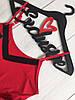 Трикотажный женский комплект для дома и сна: красная майка и шорты с кружевом, ТМExclusive, фото 3