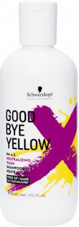 Безсульфатный шампунь с антижелтым эффектом Schwarzkopf Goodbye Yellow Shampoo300 мл