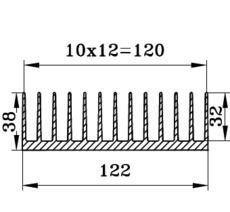 Алюминиевый радиаторный профиль БПО-1909 122х38мм
