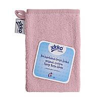 Мочалка с органического хлопка  для  ванны XKKO , розовая